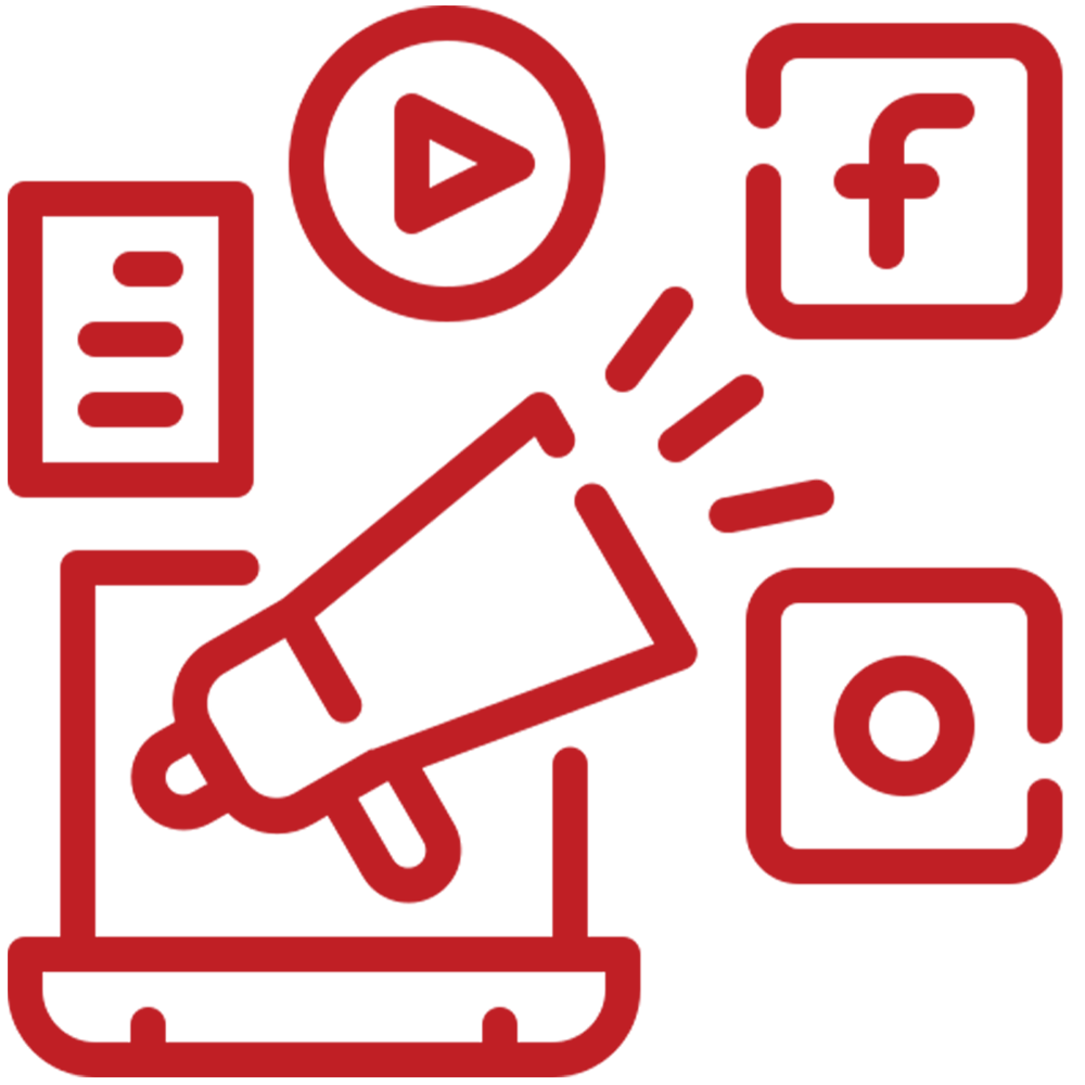 marketing on Google, Instagram, Facebook and youtube
