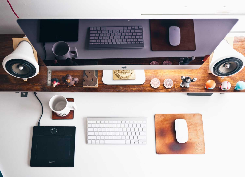 Graphic Designer Desk topview