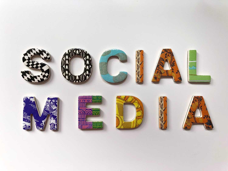 Social Media Creatively Written on a wall