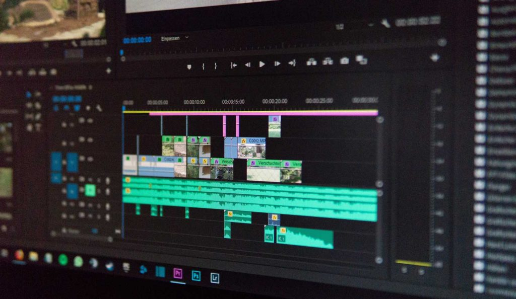 Video creation with adobe software